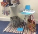 A selection of items brought from home by Trust staff, showing varied and imaginative ways of recycling everyday objects, and attractive items made from recycled materials