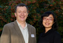 Michael O'Sullivan (Director, Cambridge Overseas Trust) and Wanying Li (Grosvenor Cambridge Scholar)