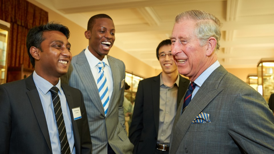 HRH The Prince of Wales and Trust scholars