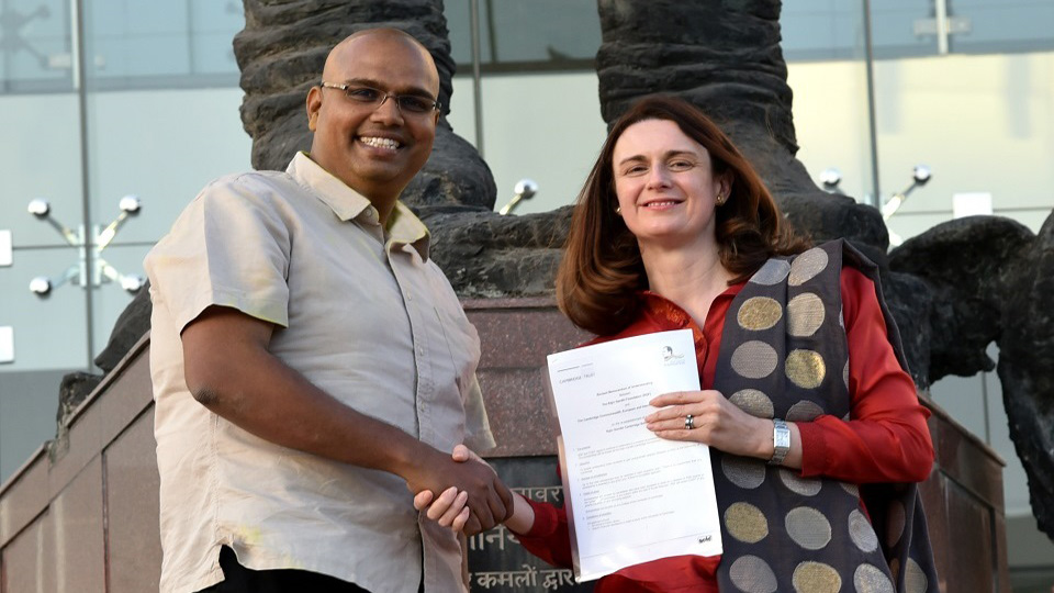 Rajiv Gandhi Foundation signing